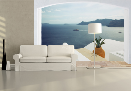 Holiday resort in Greece wall mural